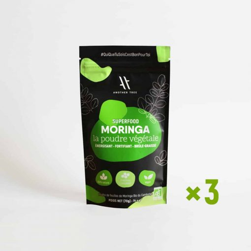 Moringa poudre bio cure 1 mois