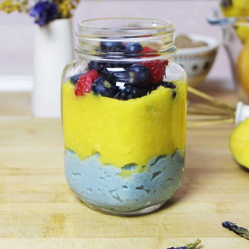 recette porridge pois papillon mangue